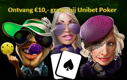 Ontvang 10 euro gratis Pokeren bij Unibet Poker