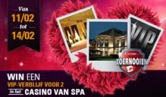 Win gratis een VIP-verblijf in het Casino van Spa