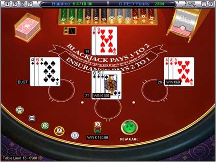 Blackjack spelen met een strategie