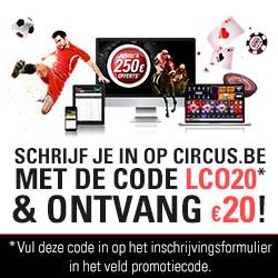 Exclusieve Bonuscode van 20 euro voor Circus online casino