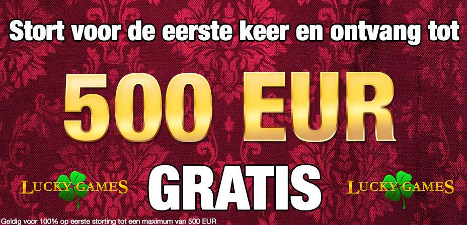 ontvang 500 euro bonus bij lucky games belgie