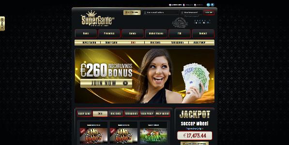 Bonuscode Supergame.be