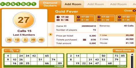 Online Bingo spelen bij Unibet Bingo België