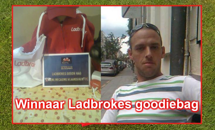 winnaar Ladbrokes goodiebag