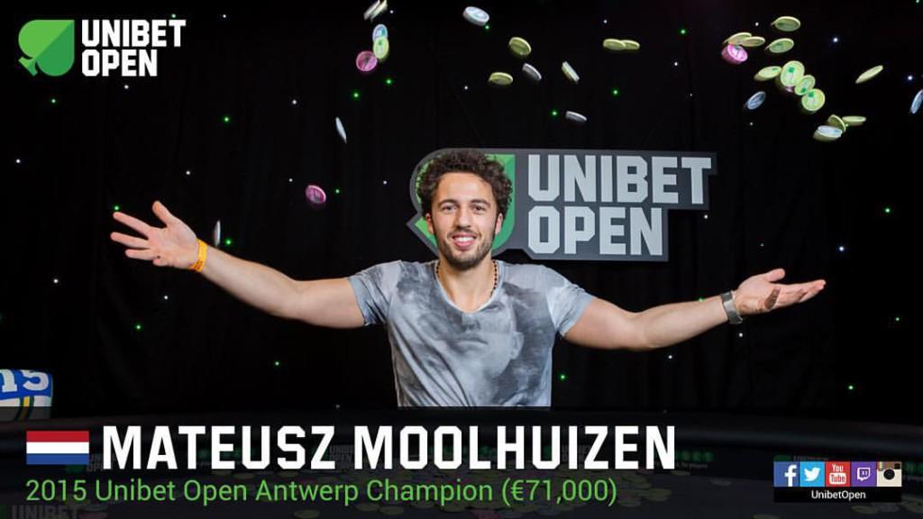 Unibet Open in Antwerpen gewonnen door Mateusz Moolhuizen