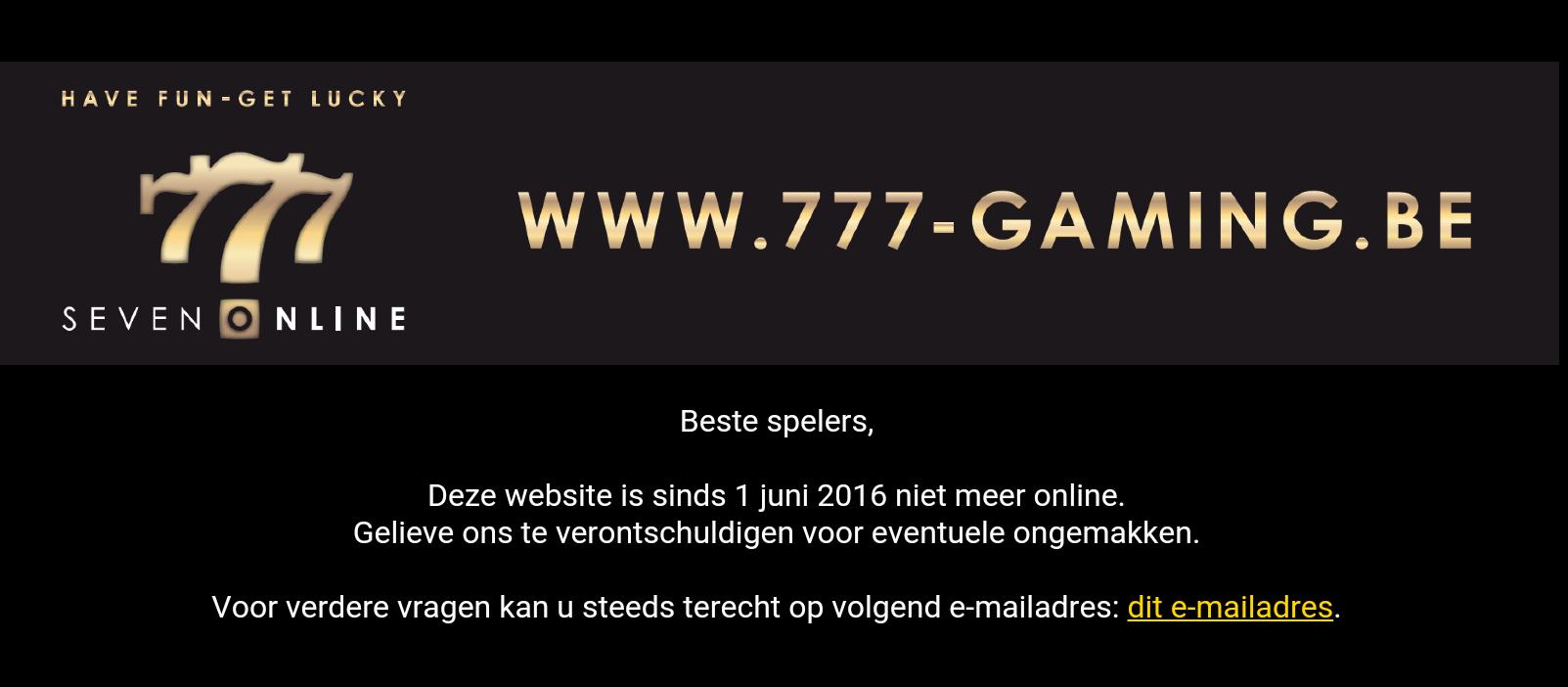 777-Gaming.be is gestopt wat is een goed alternatief?