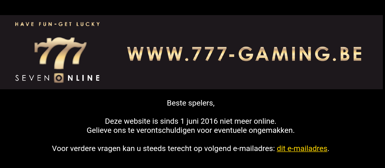 777-Gaming.be is gestopt wat is een goed alternatief?