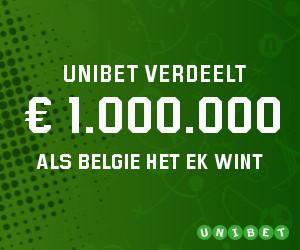Unibet verdeelt 1 miljoen euro als België het EK wint