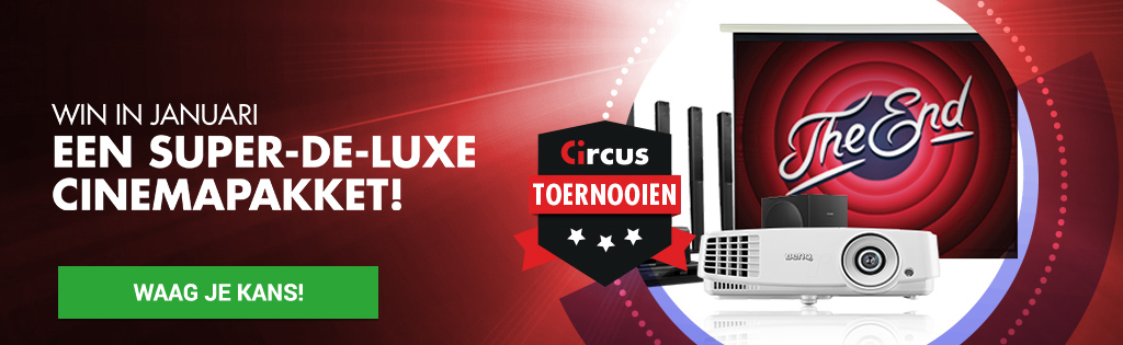 Win in Januari een luxe cinemapakket bij Circus Casino