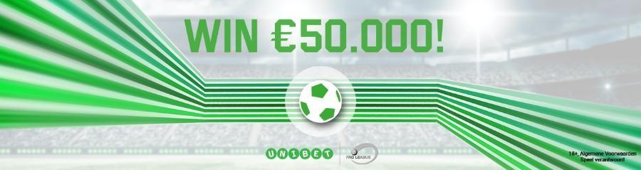 Win €50.000 met jouw gratis voorspelling bij Unibet.be