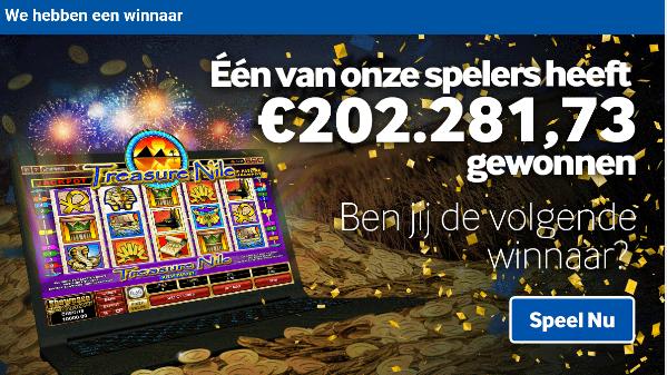 Belgische online casino speler wint jackpot
