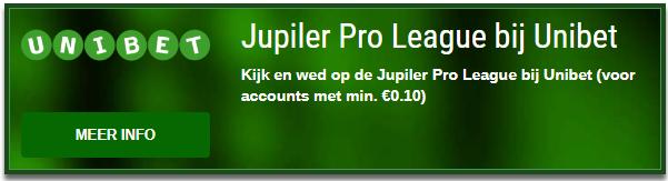 Jupiler Pro League wedstrijden bekijken bij Unibet