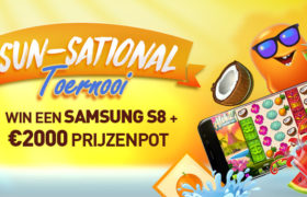 Sun-Sational Toernooi - Win een Samsung S8, cash prijzen of gratis spins