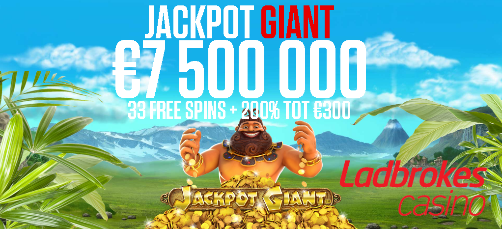33 gratis spins op de jackpot giant videoslot