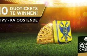 Goldenpalace.be geeft gratis duotickets weg voor alle thuiswedstrijden van STVV