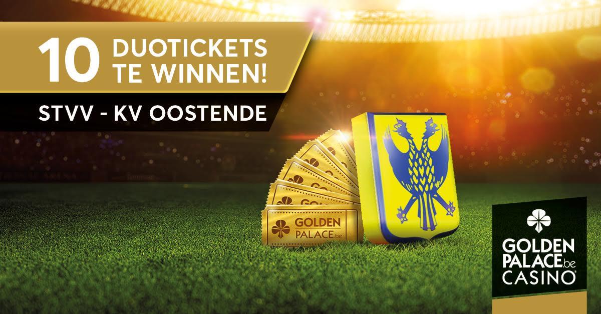Goldenpalace.be geeft gratis duotickets weg voor thuiswedstrijden van STVV