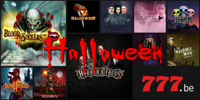 Speciale Halloween videoslots en promoties bij Casino777.be