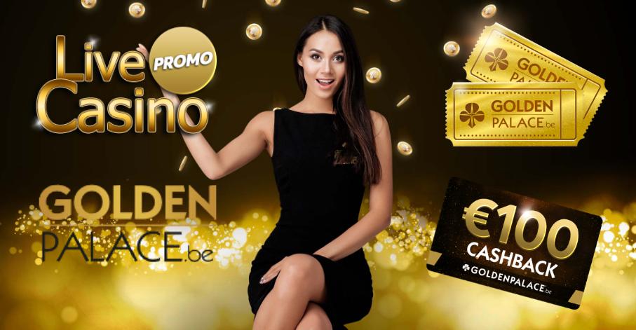 "Live Casino Promo bij Golden Palace ""Ontvang €10,- gratis"""