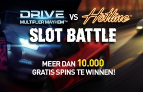 Drive vs Hotline Slot Battle – Meer dan 10.000 Gratis Spins te winnen!